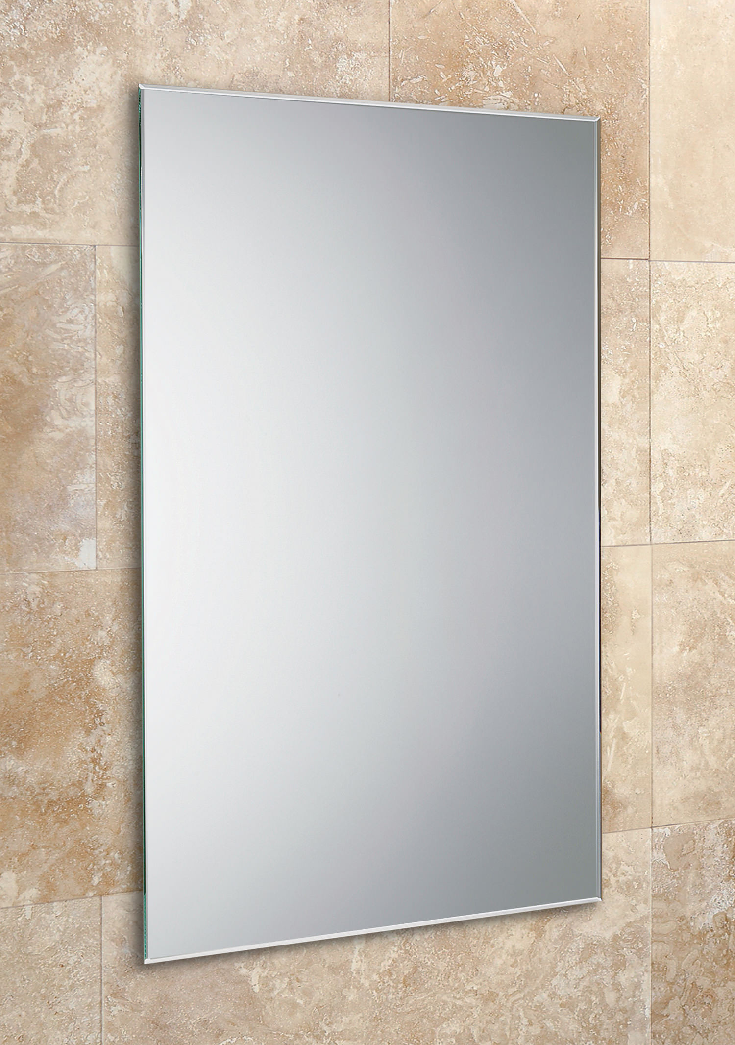 bevelled edge bathroom mirror hib johnson rectangular mirror with bevelled edges 400 x 17358
