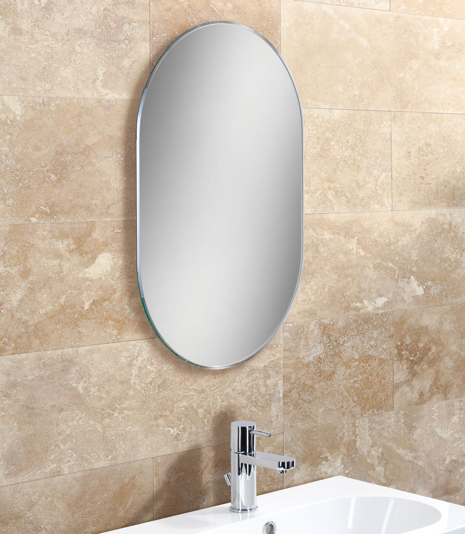 hib jessica lozenge shaped bevelled mirror 400 x 600mm