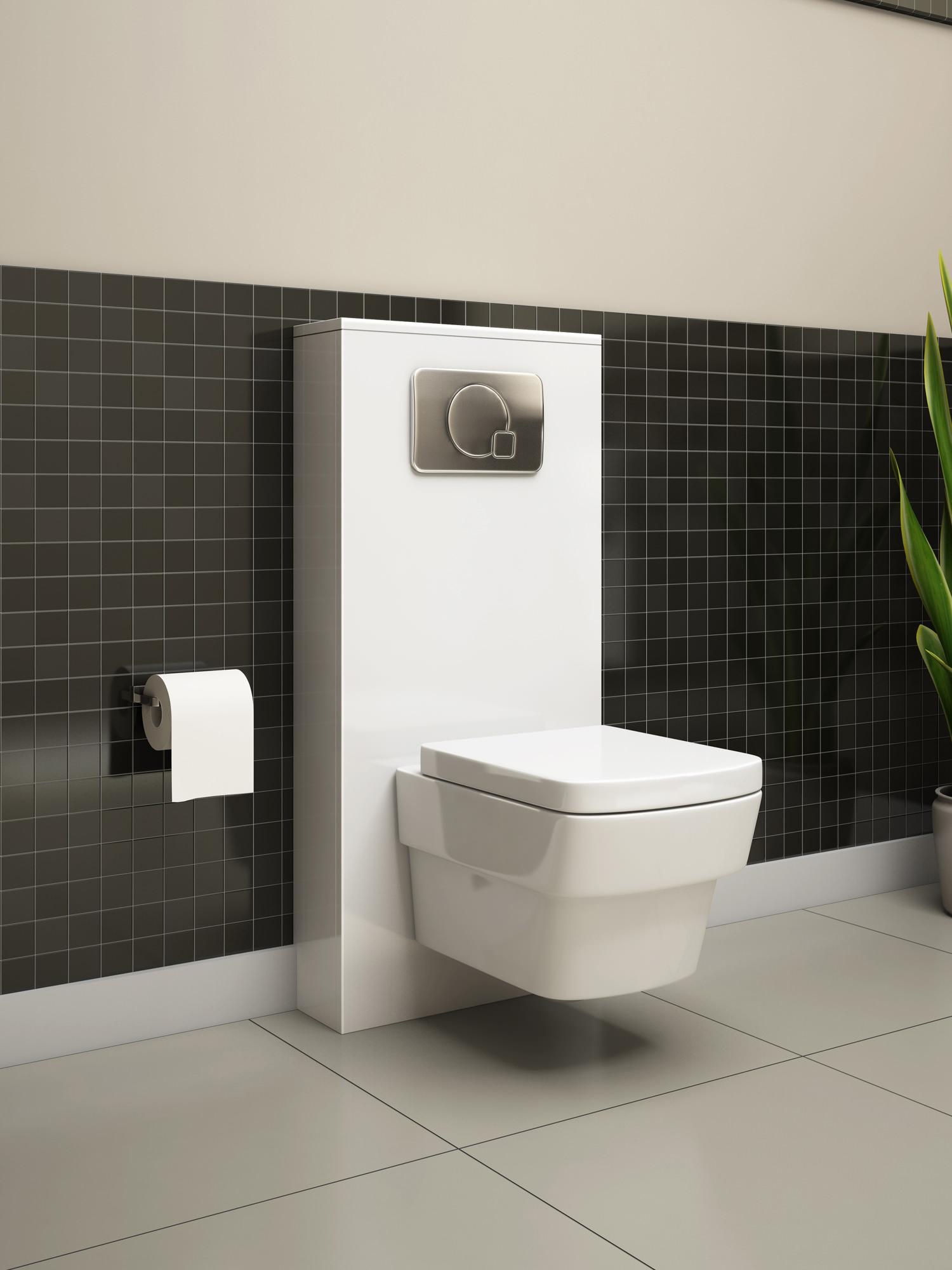 Pura Echo Gloss White Wc Cistern Frame Furniture Cover 500mm