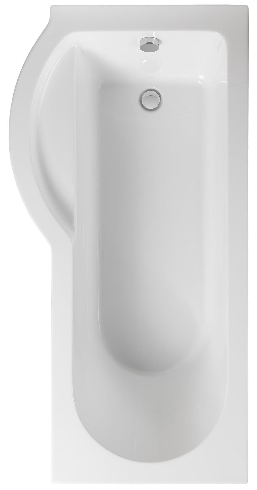 Pura Arco Left Hand 1700 x 850mm Shower Bath - PBSBLH17