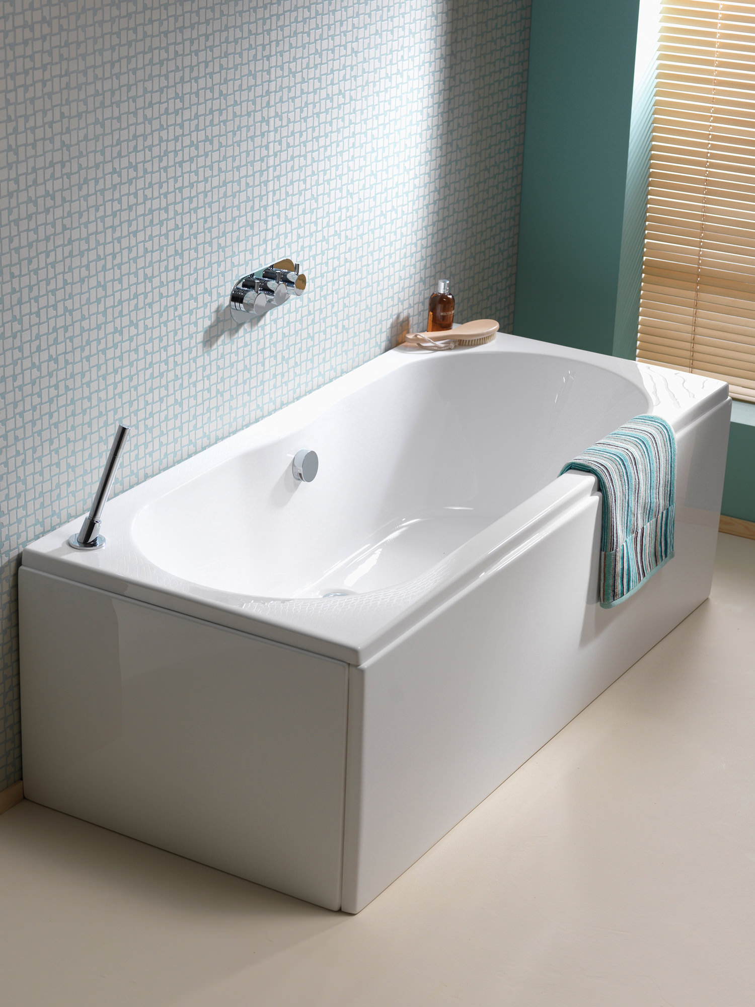 Pura Wave 1700 X 750mm Double Ended Bath Pbde17x75