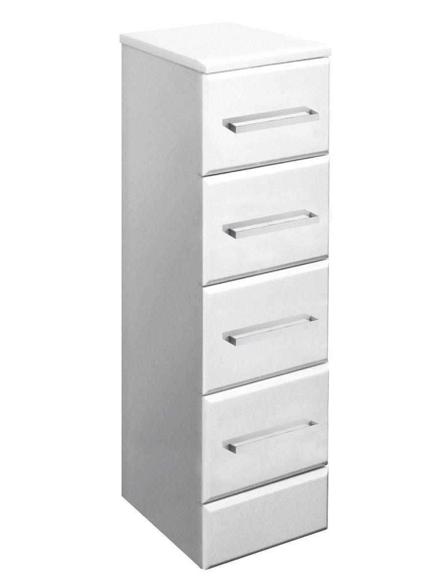 Ultra marvel beaufort white 4 drawer storage unit 300mm depth for 300mm deep kitchen units