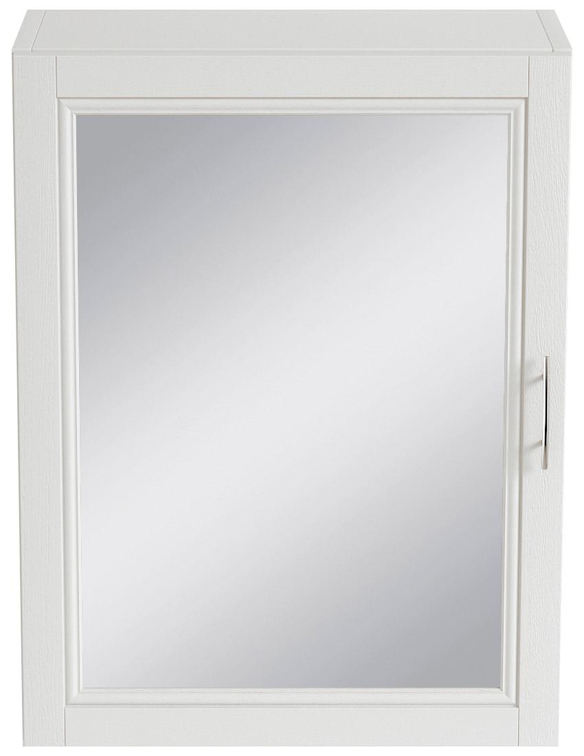 Heritage Caversham White Ash 500mm Mirror Wall Cabinet Kwa37