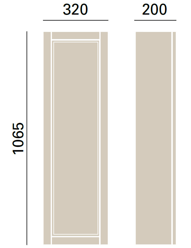 Heritage Caversham Traditional White 320mm Tall Wall Cabinet