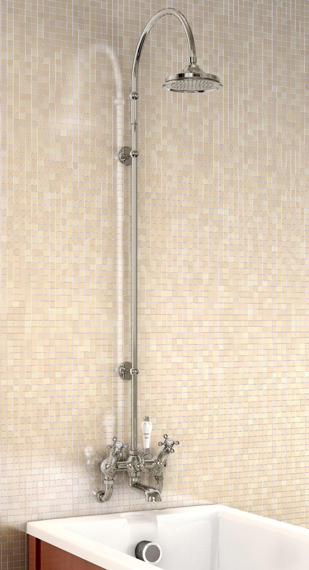 Burlington Wall Mounted Angled Bath Shower Mixer With
