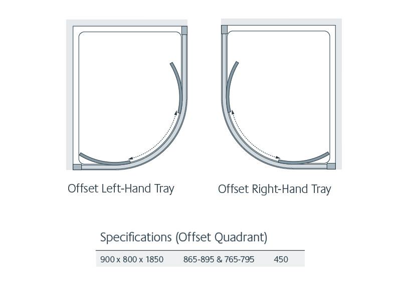 Lakes Classic Offset Quadrant Shower Enclosure 900 X 800 X