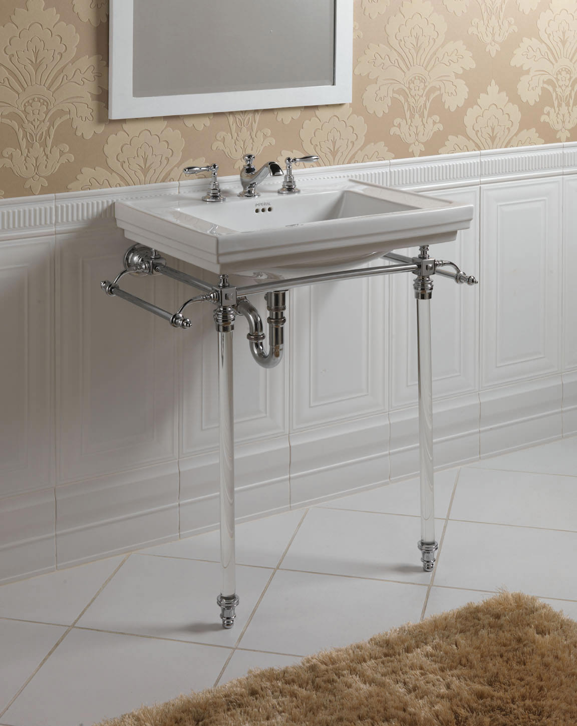 Imperial Hardwick Basin Stand And Astoria Deco Basin | ZXBS2600100 for Bathroom Basin Stands  588gtk
