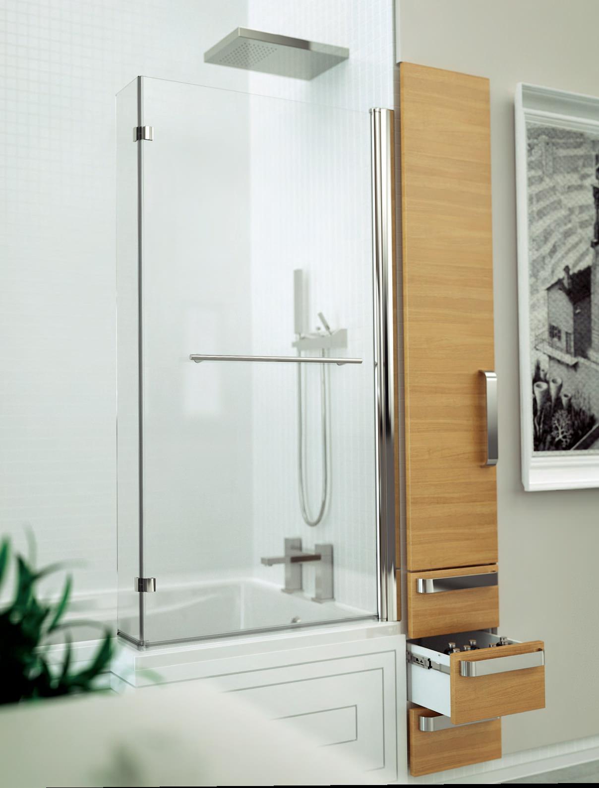 Kudos Inspirational 1500x808mm L Shaped Bath Screen