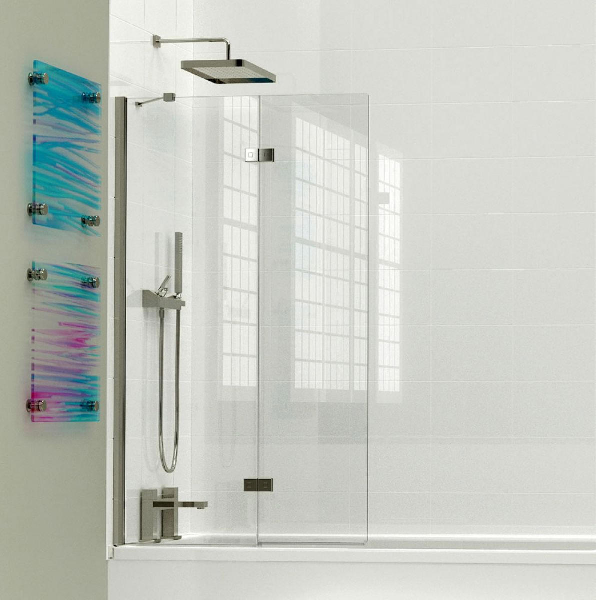 Kudos Inspirational 2 Panel In Fold Bath Screen