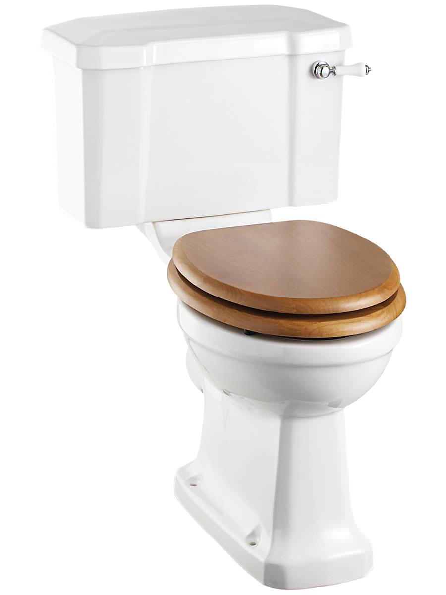 burlington close coupled wc with cistern and ceramic lever. Black Bedroom Furniture Sets. Home Design Ideas