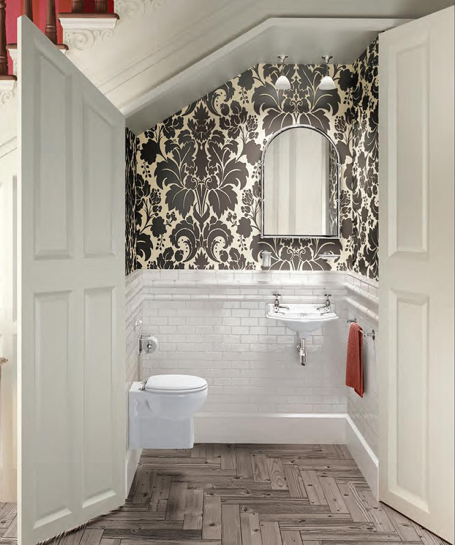 Burlington Traditional Wall Hung Cloakroom Suite
