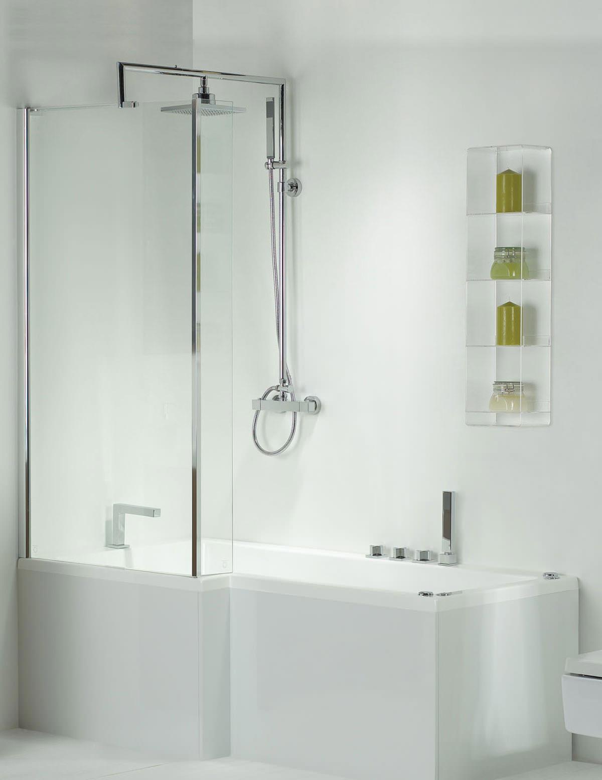 phoenix pensato whirlpool shower bath with panel 1700mm whirlpool bath