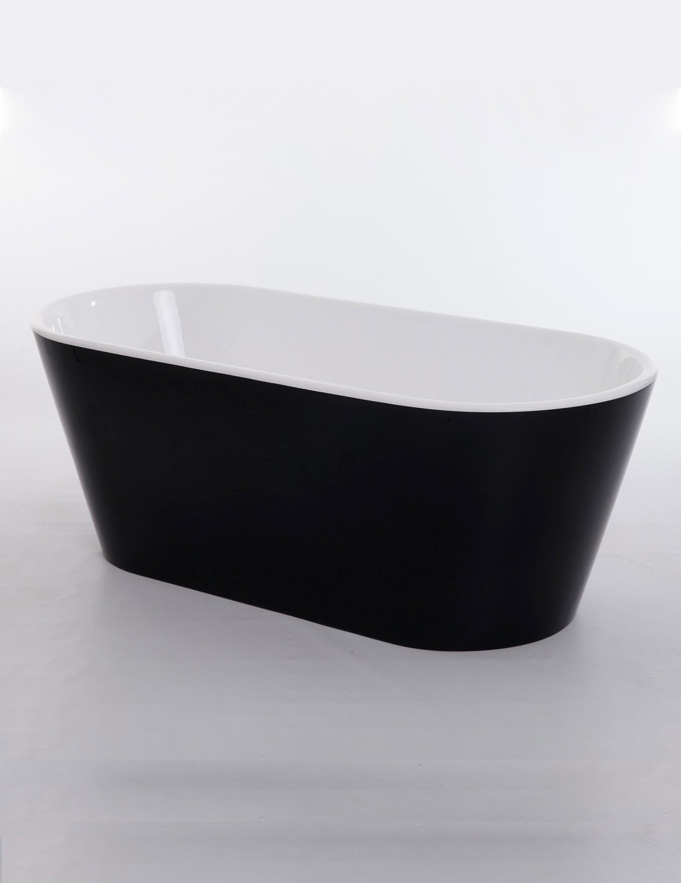 Royce Morgan Black Sapphire Black Freestanding Bath 1650 X