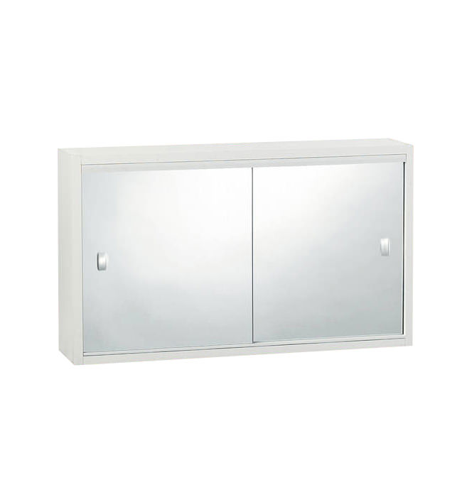 metlex buckingham double sliding mirror door cabinet abu2215 image