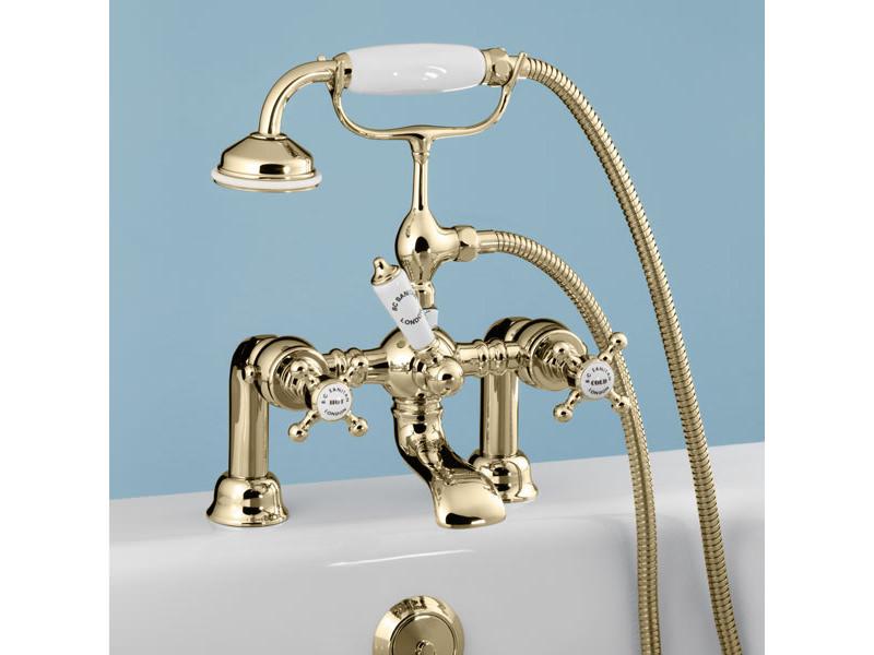 Silverdale Victorian Incalux Bath Shower Mixer Tap