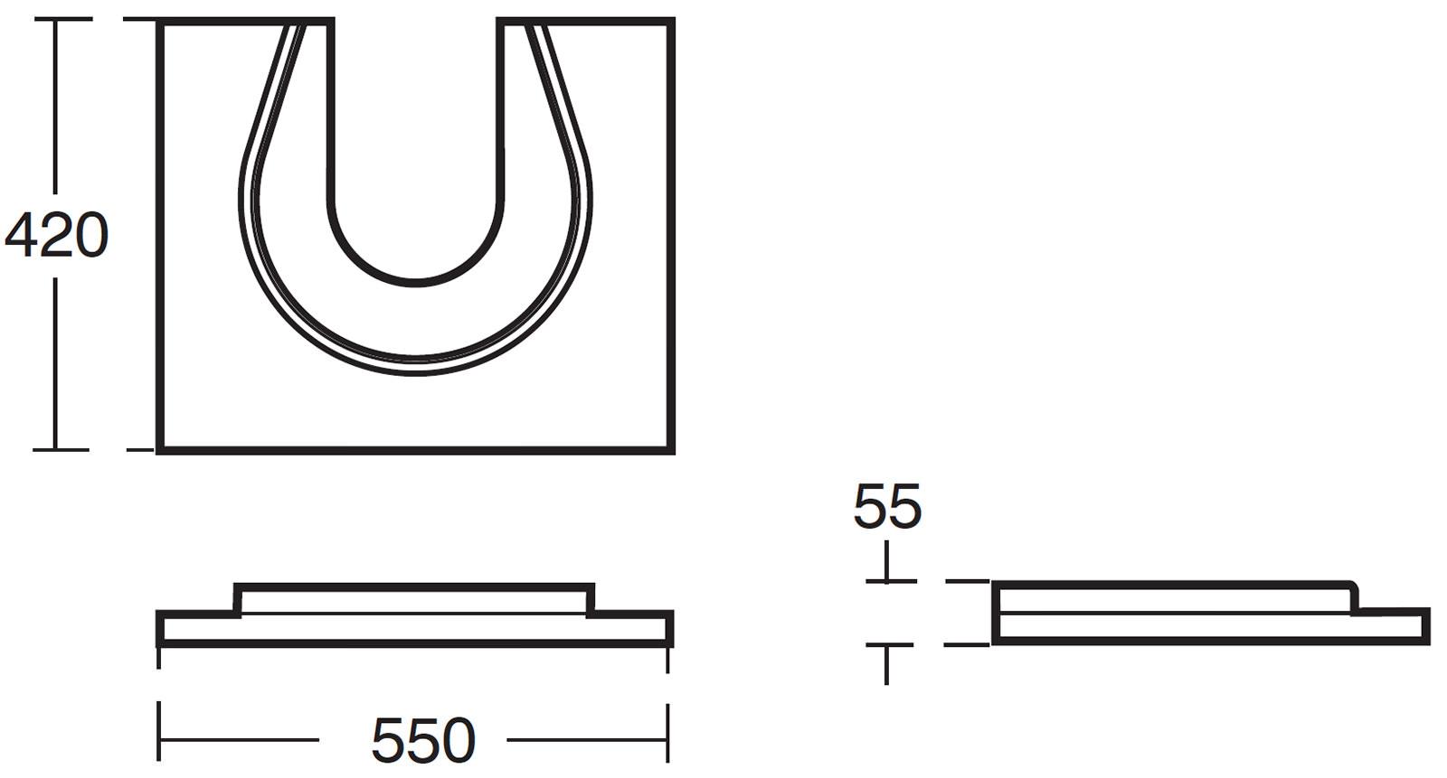 X Icon Gray Concept 550 X 420mm Sphere
