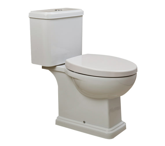 rak decor close coupled wc with soft close toilet seat 660mm