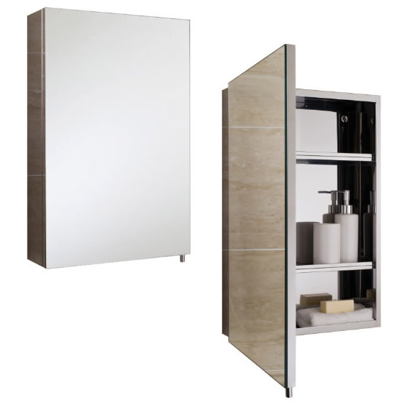 stainless steel mirror bathroom cabinet rak cube stainless steel 400 x 600mm single door mirror 24267