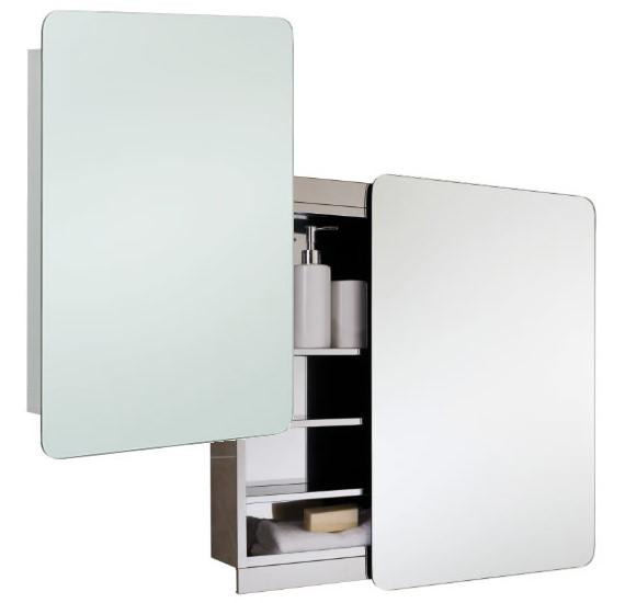 Rak slide stainless steel 500 x 700mm slider door mirror for Bathroom cabinets 700mm