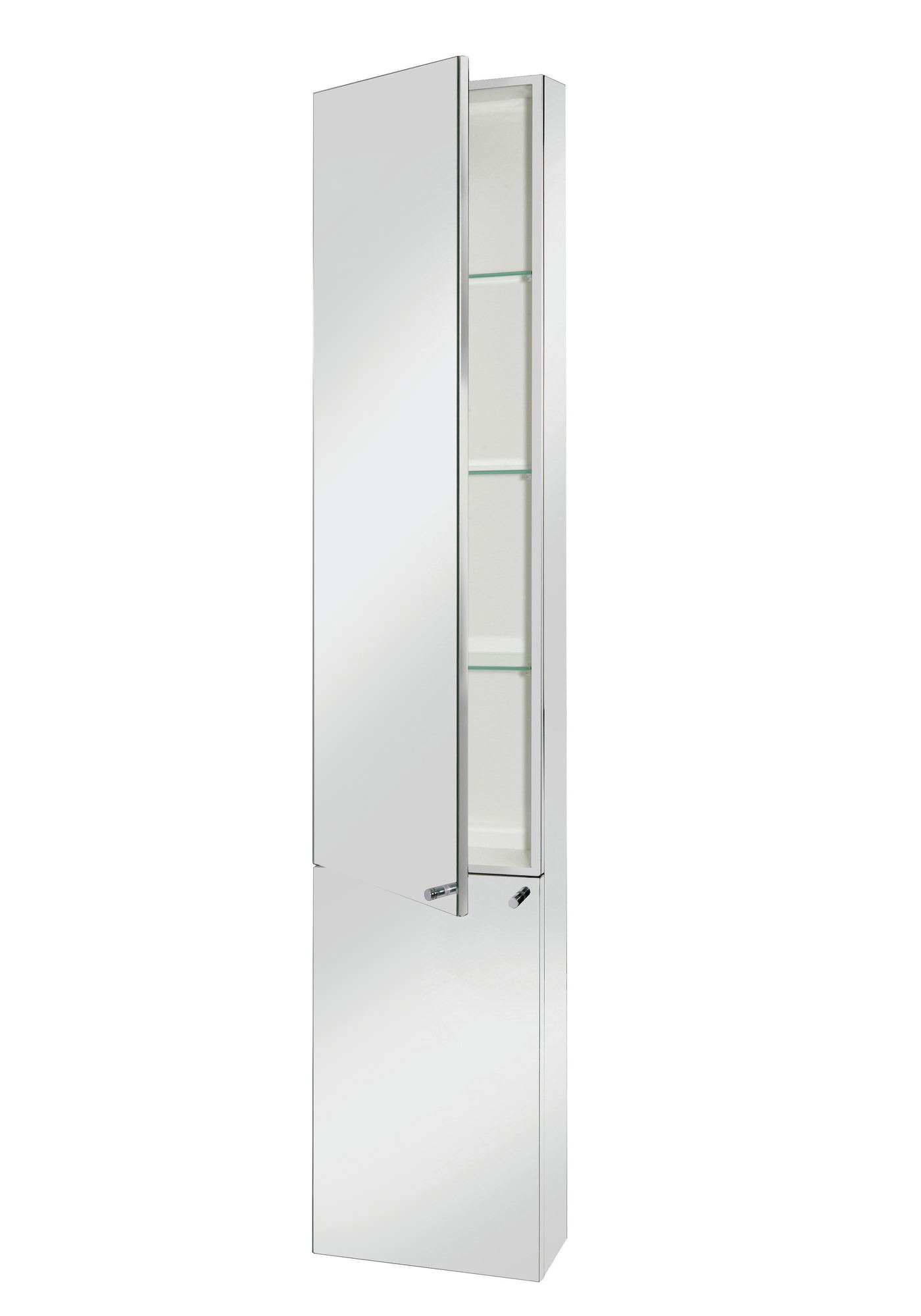Croydex nile stainless steel tall cabinet wc796005 for Tall stainless steel bathroom cabinet
