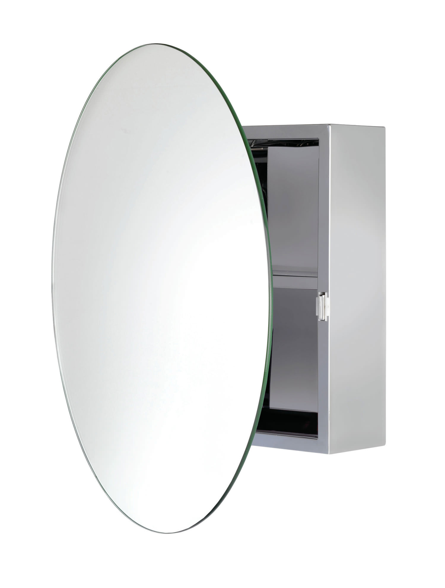 Croydex Severn Stainless Steel Circular Door Mirror Cabinet | WC836005