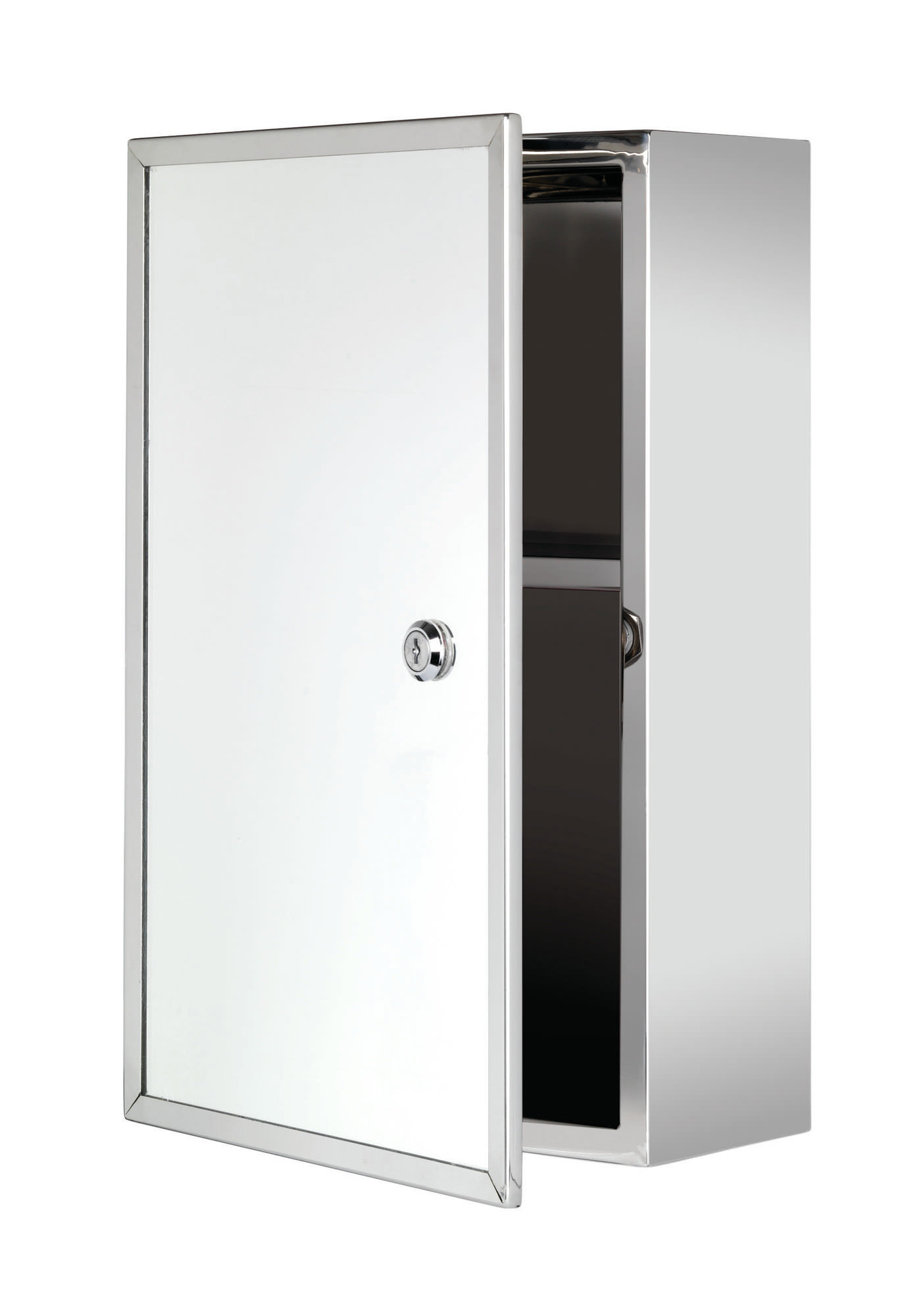 Croydex Trent Stainless Steel Lockable Medicine Cabinet - WC846005