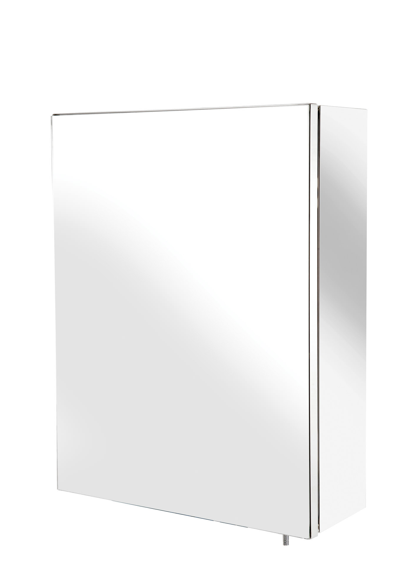 Croydex Avon Stainless Steel Single Door Small Mirror Cabinet | WC856005