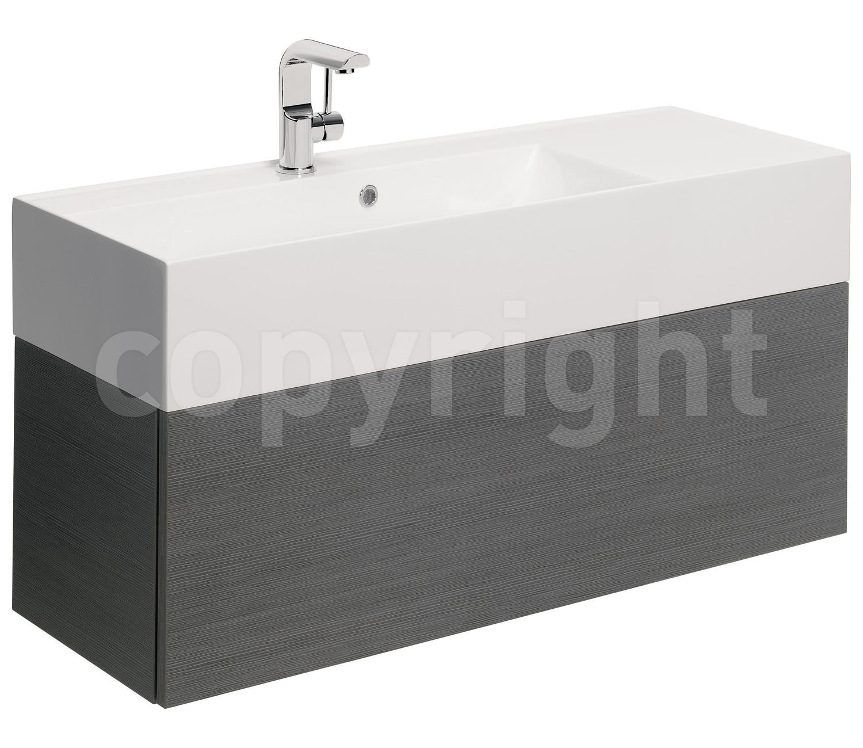 Bauhaus elite 1000mm single drawer steel wall hung basin for 1000mm kitchen drawer unit