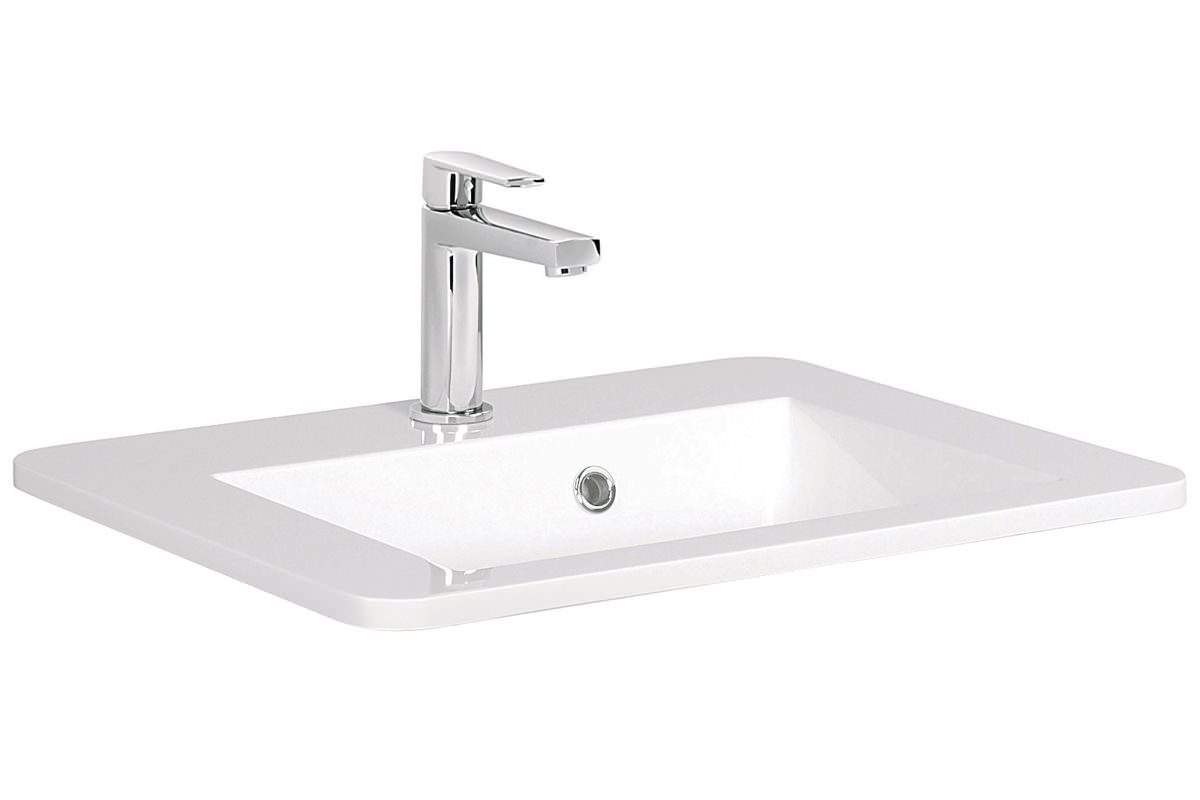 Bauhaus solo 550mm 1 tap hole basin with overflow so0511srw