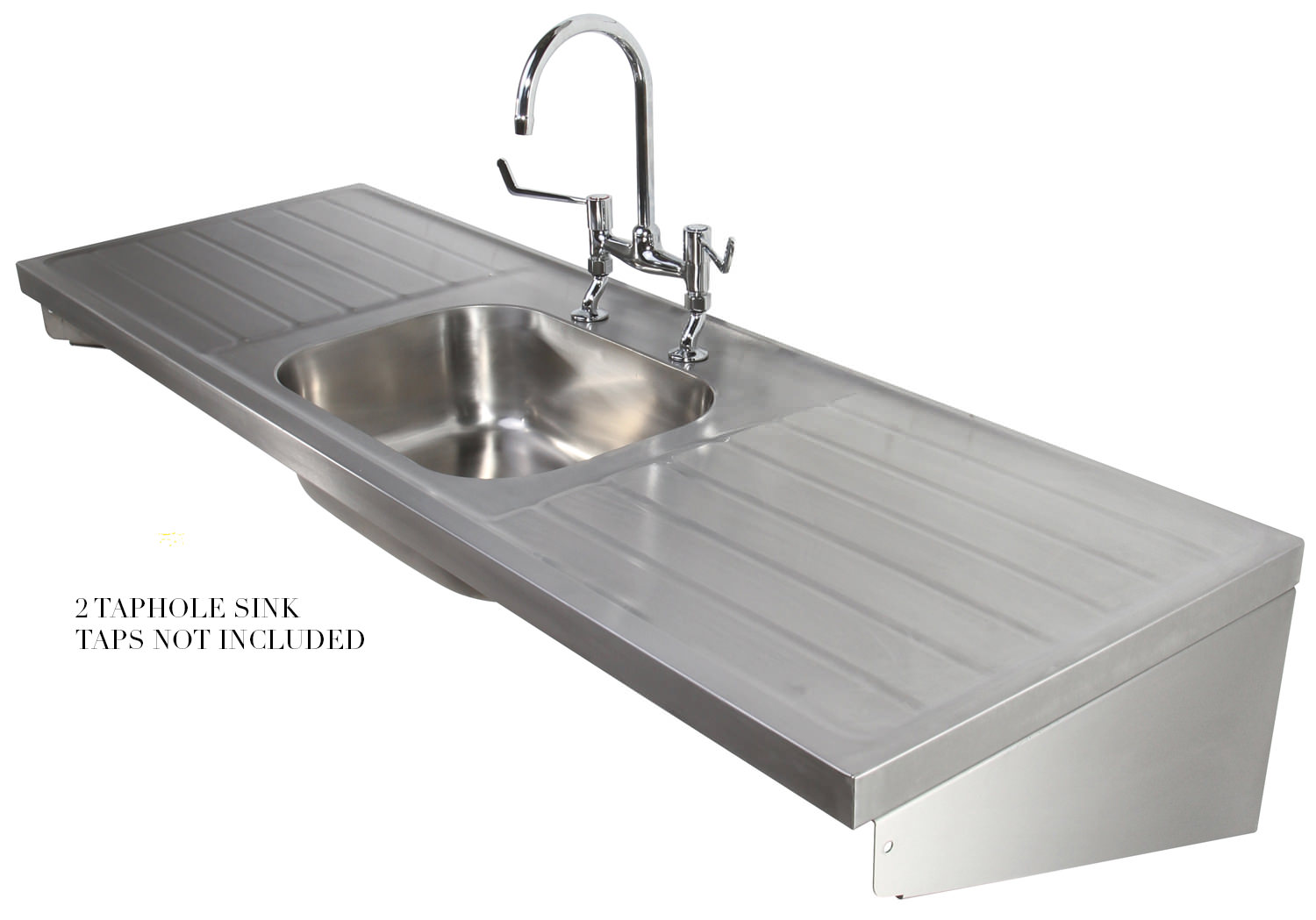 Twyford Ss 1800 X 600mm Single Centre Bowl Sink And Double