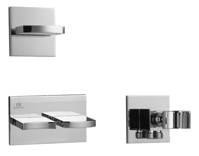 porcelanosa noken imagine 3 hole valves and hand shower holder. Black Bedroom Furniture Sets. Home Design Ideas