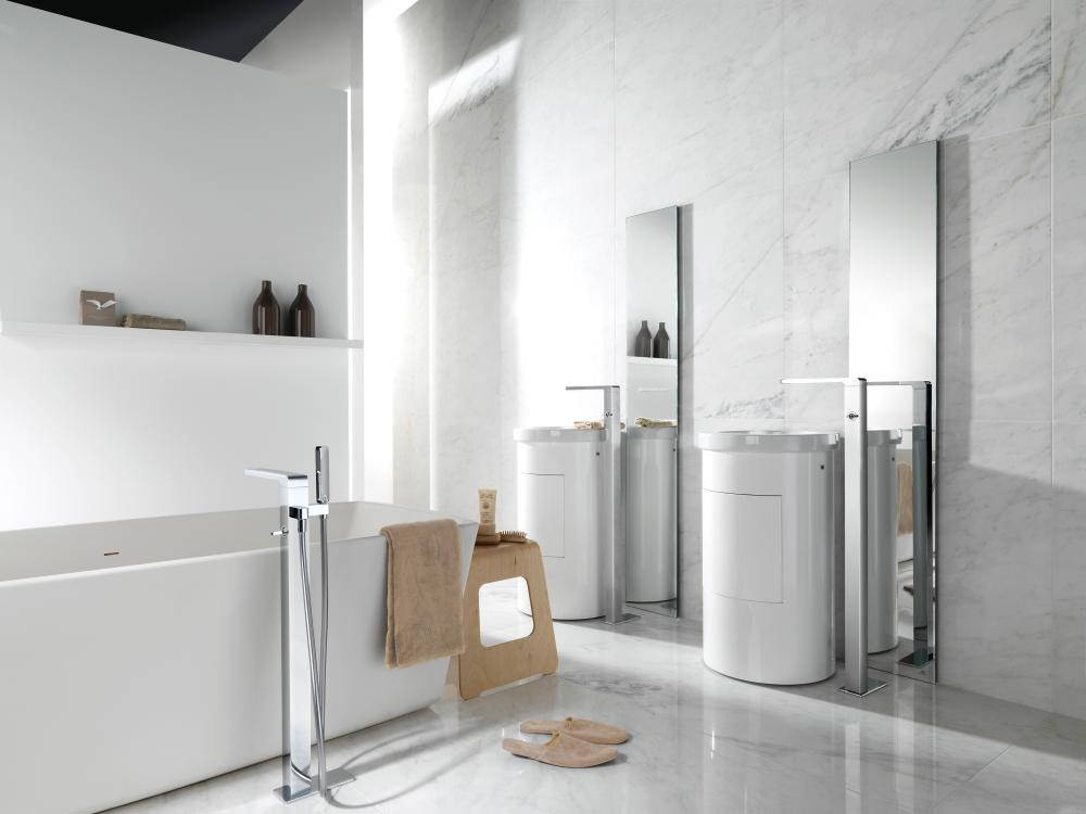 Porcelanosa Noken Lounge Floor Mounted Basin Mixer Tap