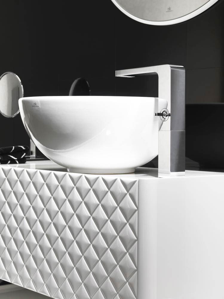 alternate image of porcelanosa noken lounge high spout single lever chrome basin mixer tap