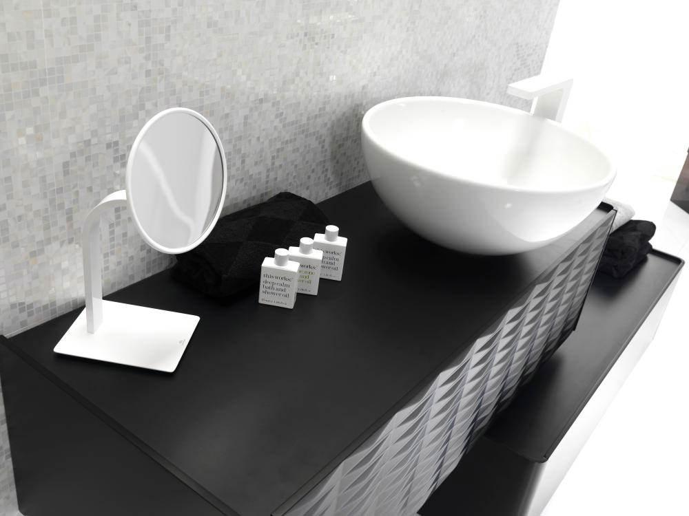 Porcelanosa noken lounge high spout white basin mixer tap for Porcelanosa faucets