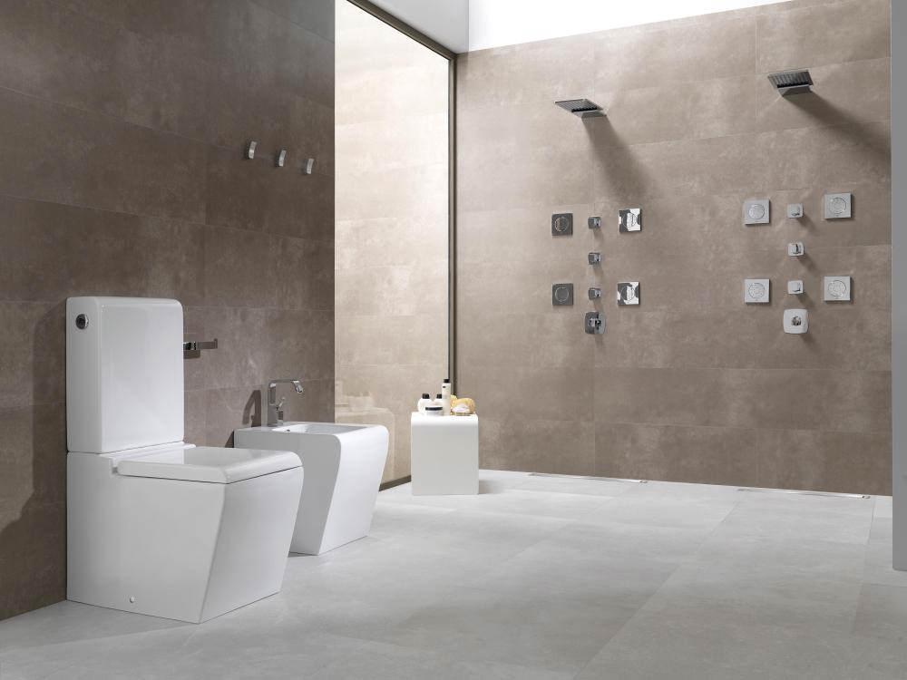 alternate image of porcelanosa noken soft wall mounted rain and cascade shower head - Noken Porcelanosa
