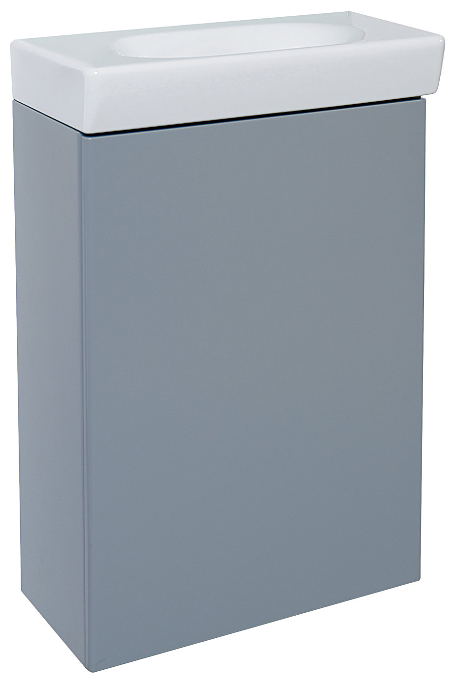 ideal standard tonic guest wall hung grey central basin cabinet