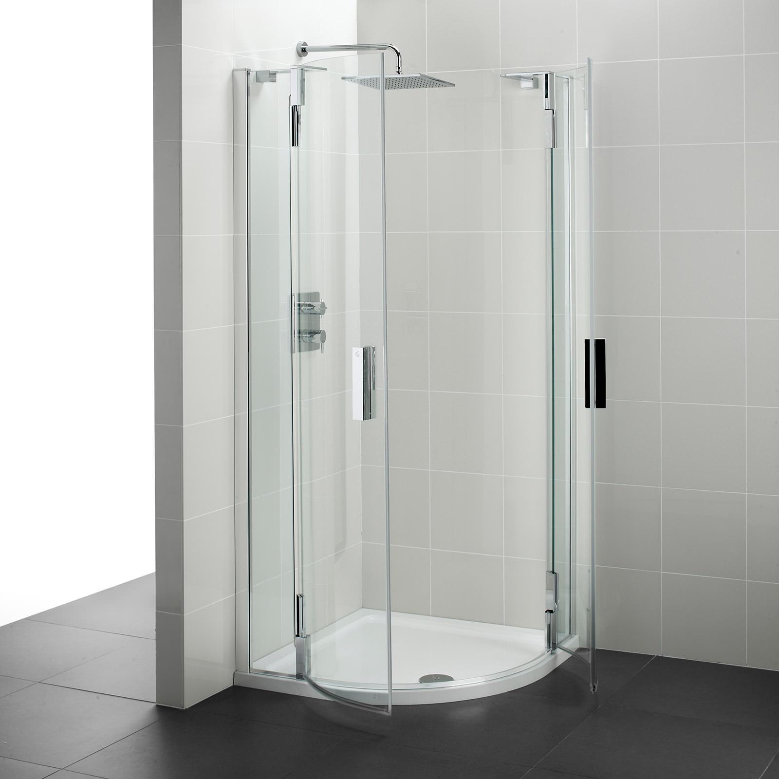 Ideal Standard Tonic Upstand 900 Hinged Quadrant Shower
