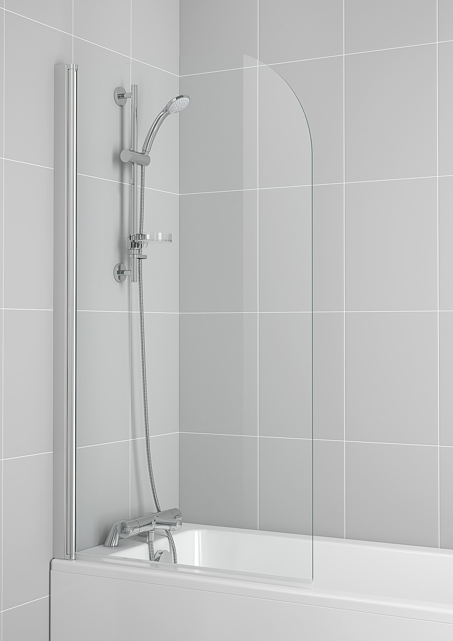 Ideal Standard New Connect 820 X 1400mm Radius Bath Screen
