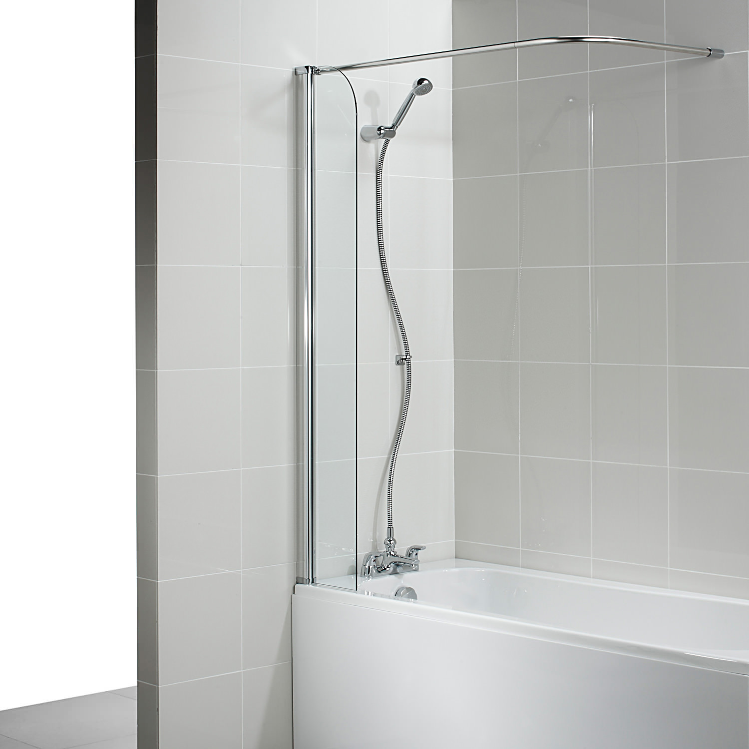 Corner Bath Shower Curtain Rail Ideal Standard Connect 255mm Shower Guard With Corner