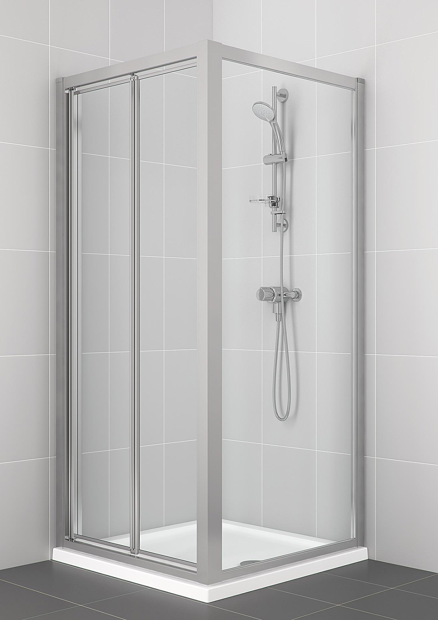 Bifold Bathroom Door: Ideal Standard Connect 800mm Bifold Shower Enclosure Door