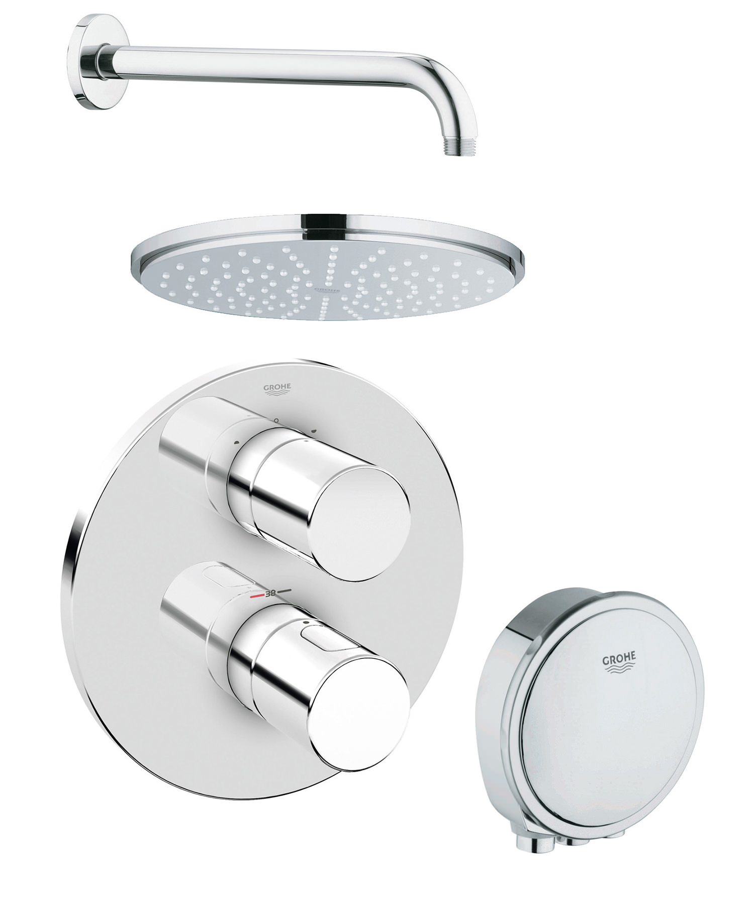 Sehr Gut Grohe Grohtherm 3000 Cosmopolitan Bath And Shower Solution Pack 2 PQ37
