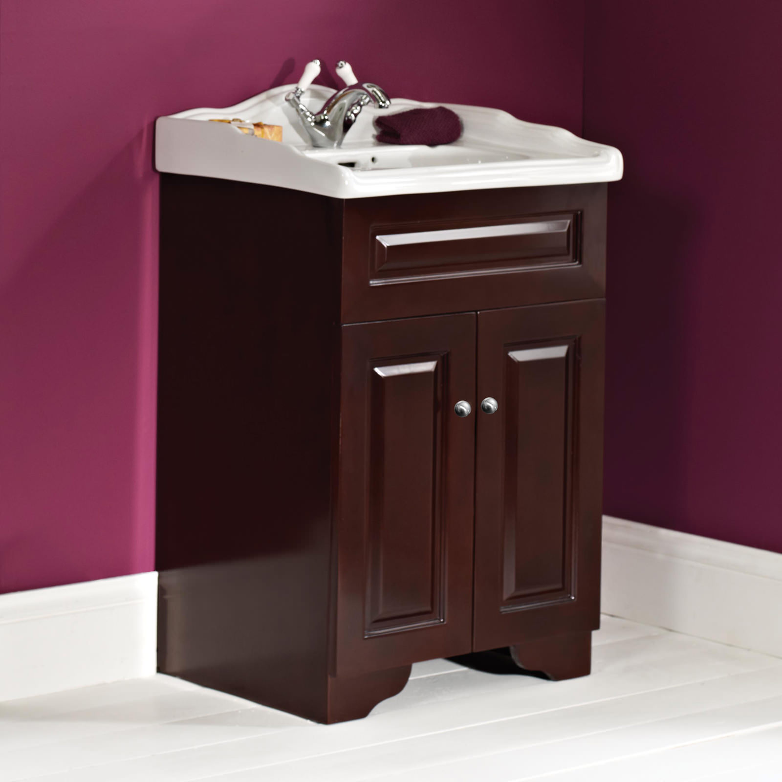 Phoenix Balmoral Solid Wood Base Unit With Square Basin