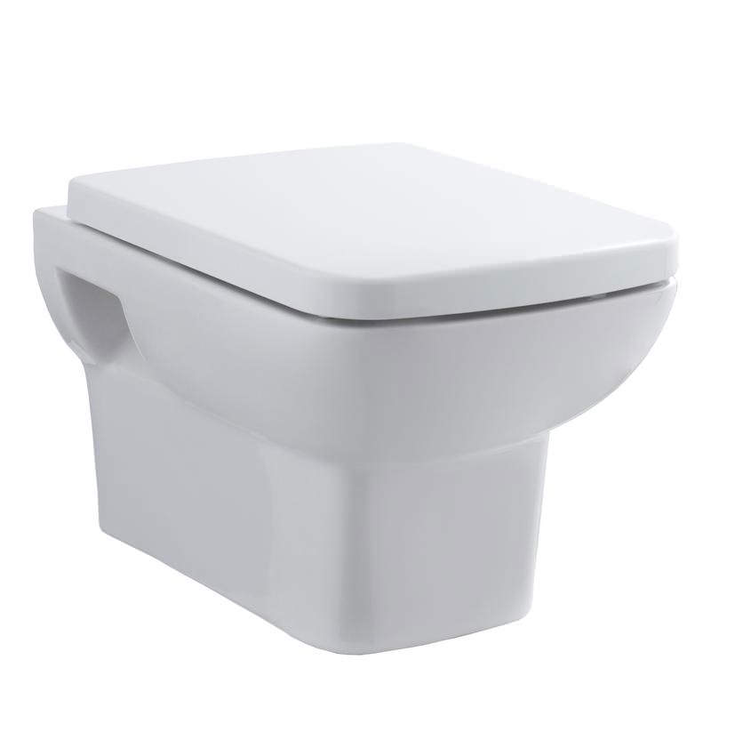 Hudson Reed Square Wall Hung Wc Pan With Soft Close Toilet