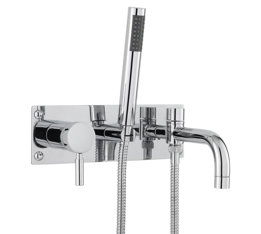 Hudson Reed Tec Wall Mounted Bath Shower Mixer Tap With