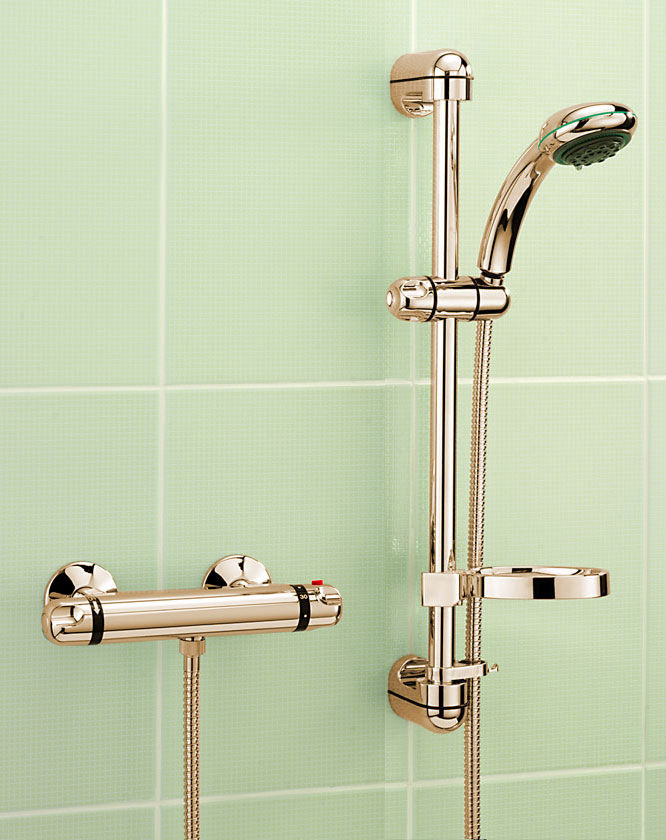 Tre Mercati Roma Exposed Thermostatic Shower Valve With Kit -Gold ...