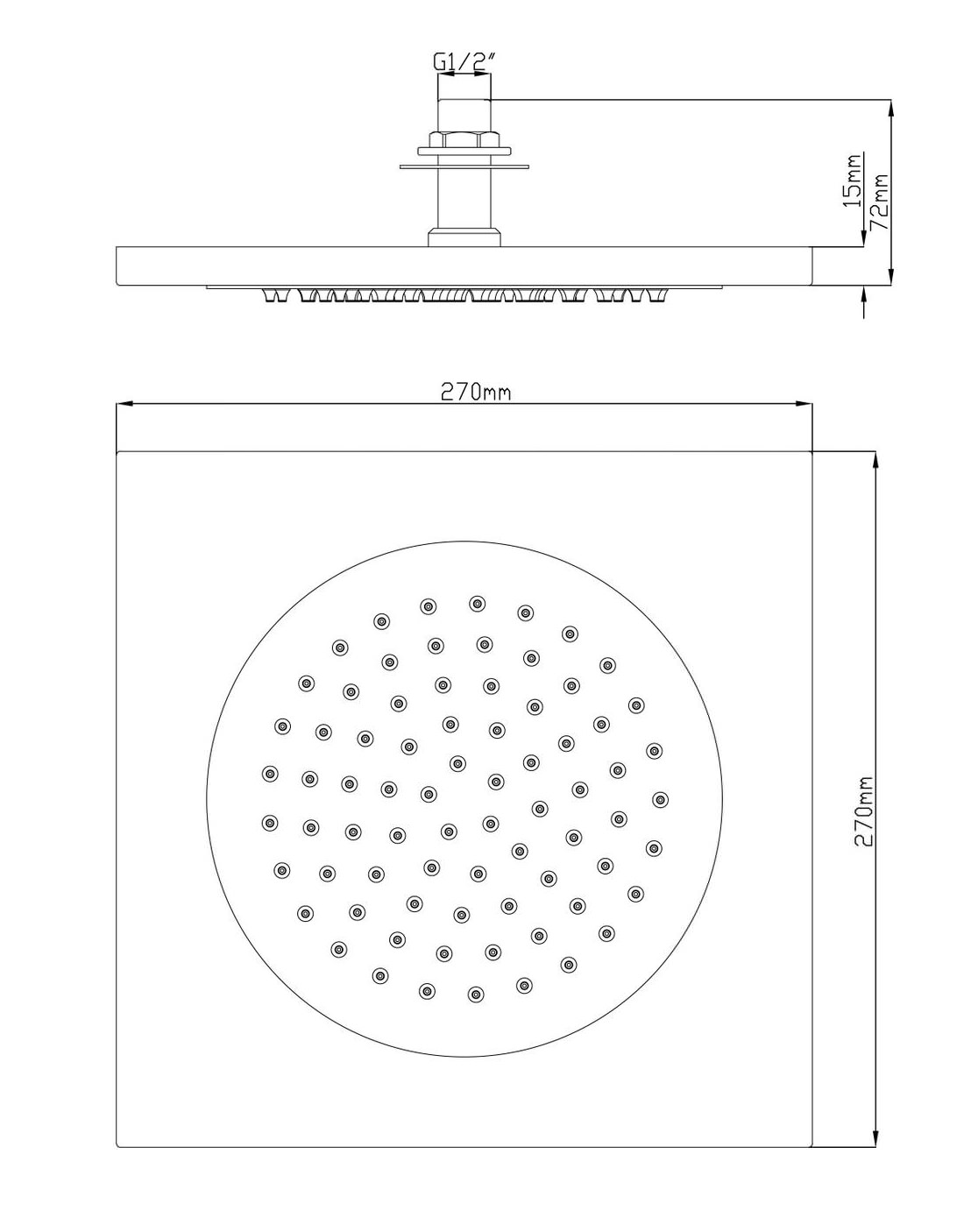 Shower Head Drawing