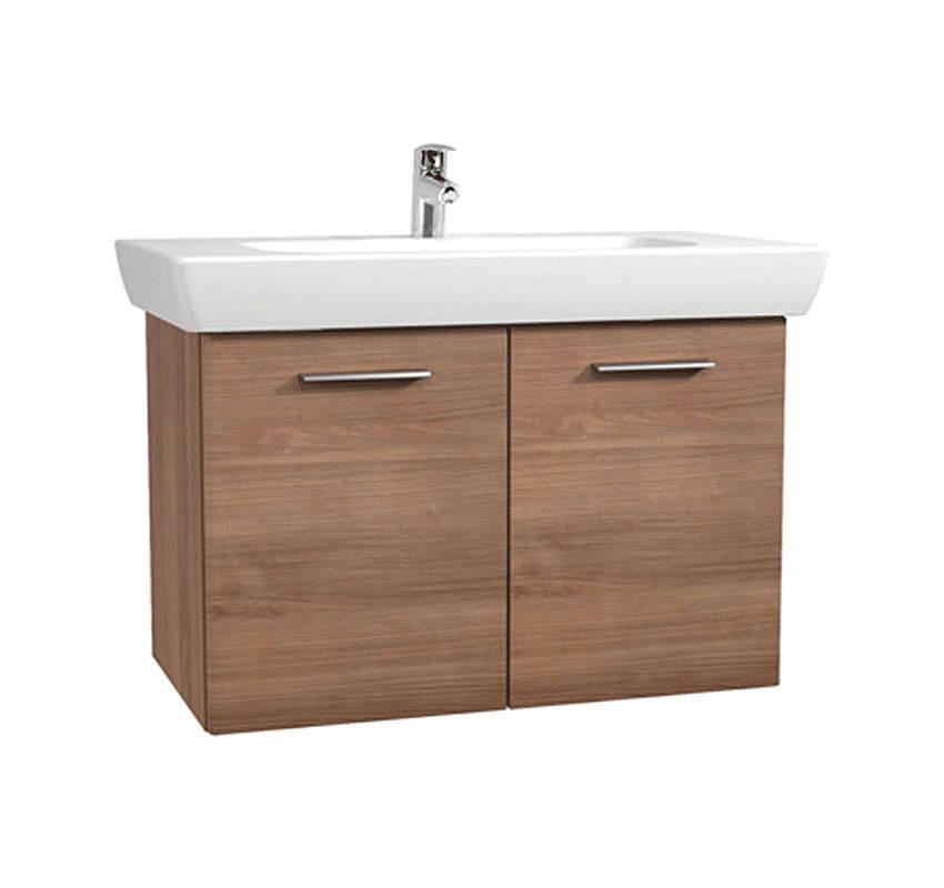 vitra s20 dark cherry finished 850mm vanity unit and basin 54785