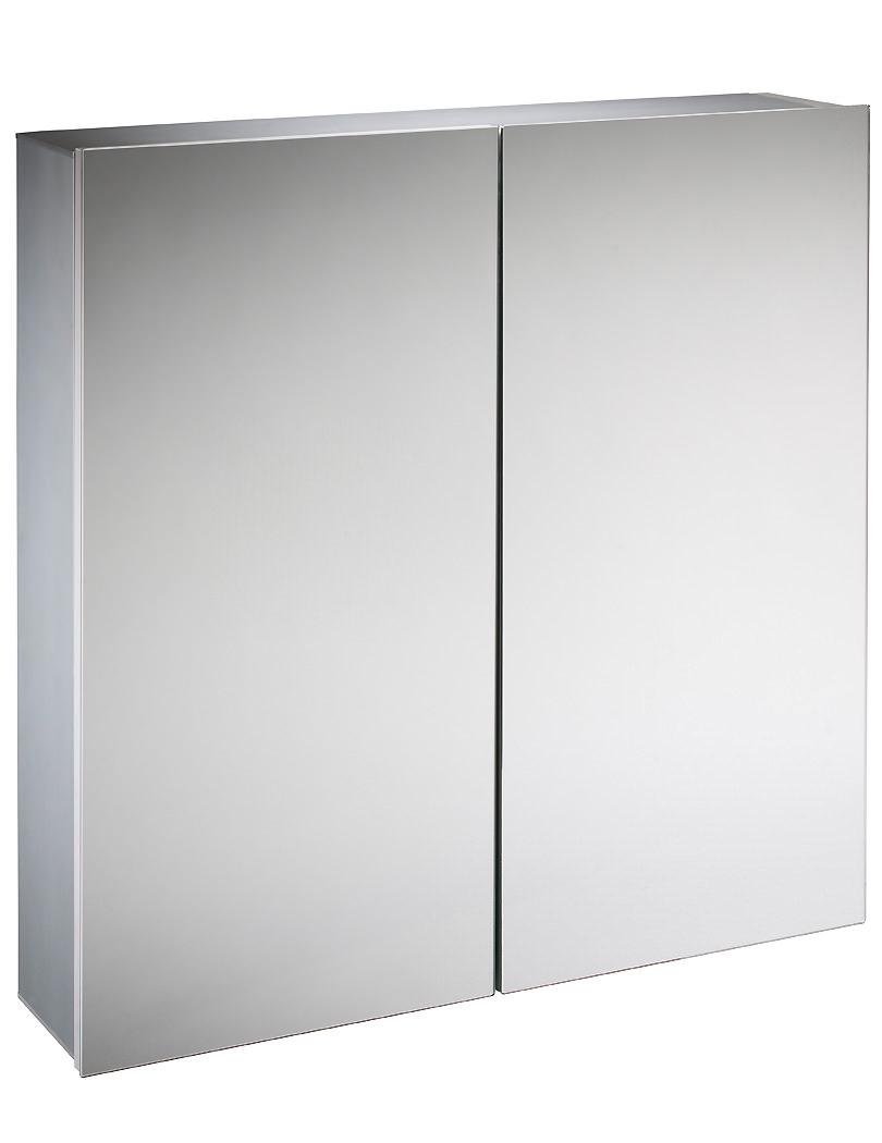 Tavistock balance 600mm double door mirror cabinet ba60al for Double door mirrored bathroom cabinet