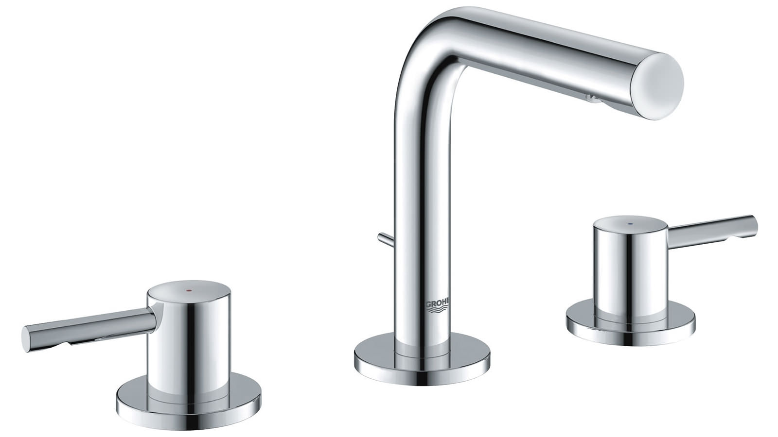 grohe essence three hole basin mixer tap with pop up waste. Black Bedroom Furniture Sets. Home Design Ideas