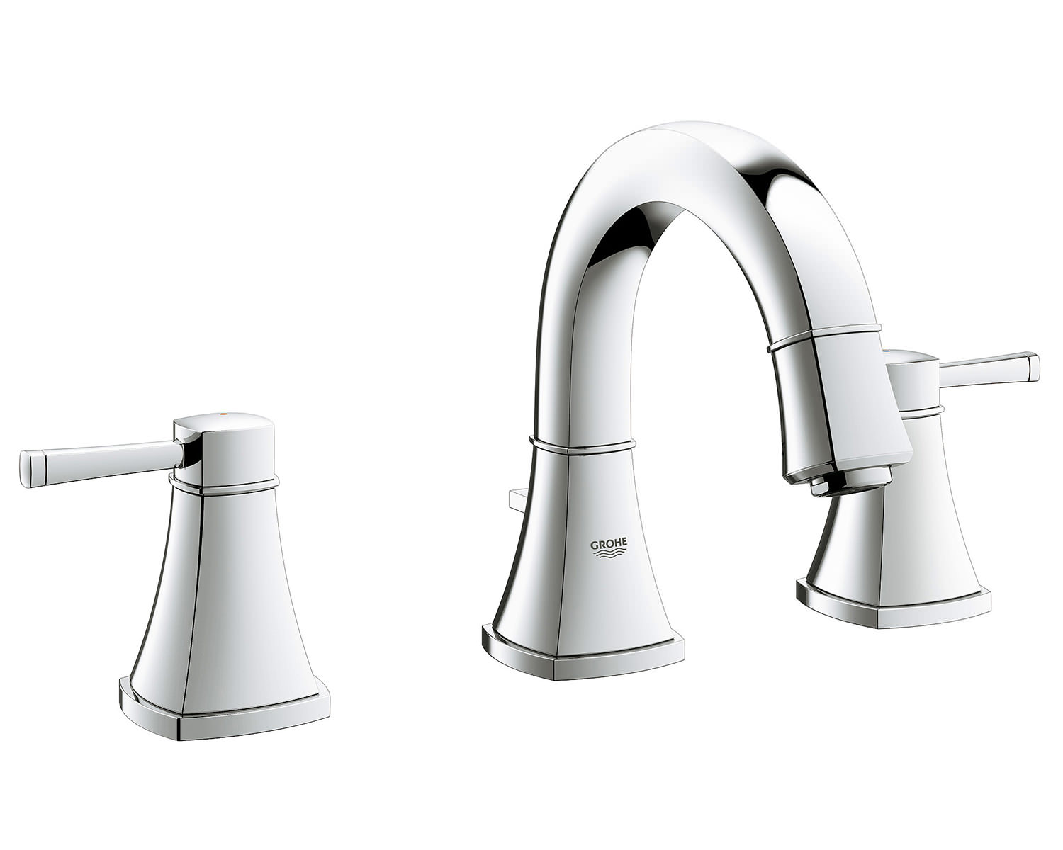 grohe spa grandera chrome 3 hole basin mixer tap 20417000. Black Bedroom Furniture Sets. Home Design Ideas